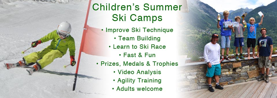 Summer Ski Race Camps in the French Alps